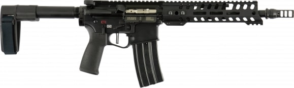 "Patriot Ordnance Factory 01462 Renegade Plus AR Pistol Semi-Auto 10.5"" 30+1 Polymer Black"