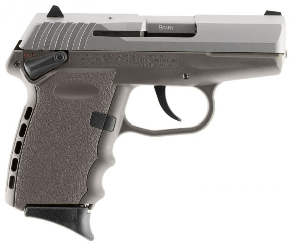 """SCCY CPX1TTSG CPX-1 Double 9mm 3.1"""" 10+1 Sniper Gray Polymer Grip/Frame Grip Stainless"""