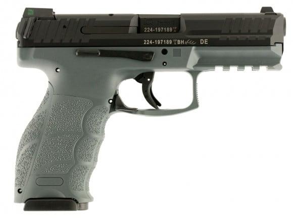 "HK 700009GYLEA5 VP9 Double 9mm Luger 4.09"" 15+1 3 Mags NS Gray Interchangeable Backstrap Grip Black"