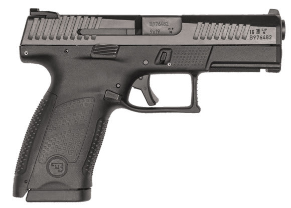 "CZ 91520 P-10 DA/SA 9mm 4"" 15+1 Black Interchangeable Backstrap Grip Black Nitride"