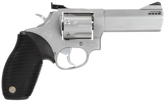 "Taurus 2627049 627 Standard 357 RemMag 4"" Ported 7rd Fixed Front/Adj Rear Sight Ribber Grip Matte SS"