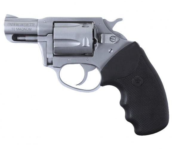 """Charter Arms 73220 Undercoverette Stainless DA/SA 32 Harrington & Richardson Magazine 2"""" 5 Black Rubber Stainless"""