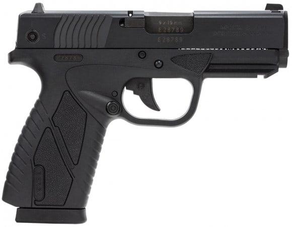 "Bersa BP9MCC BPCC Concealed Carry Double 9mm Luger 3.3"" 8+1 Black Polymer Grip/Frame Grip Black"