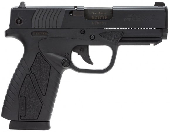 "Bersa BP9MCC BPCC Concealed Carry Double 9mm Luger 3.3"" 8+1 Black Polymer Grip/Frame Grip Black"