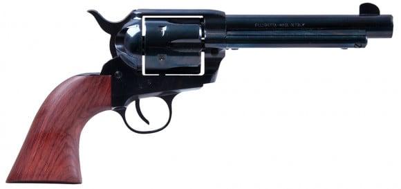 "Heritage Mfg RR357B4 Rough Rider Big Bore Single 357 Magnum 4.75"" 6 Cocobolo Blued"