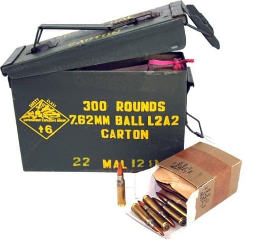 Malaysian 7.62 NATO/.308 147gr FMJ Ball Ammo - 300rd Can