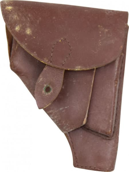 Original Polish Military P64 Pistol Holster Good Grade - Also Fits Yugo M70 Pistols... Etc. Brown or Black Leather