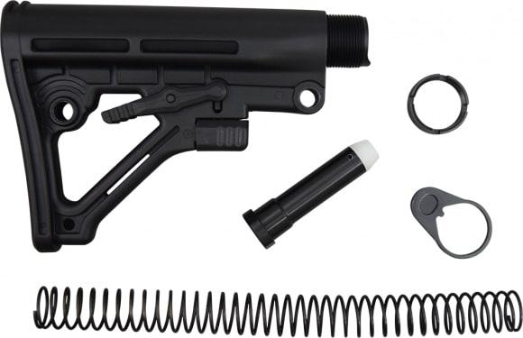 Omega AR-15 Stock Kit Mil-Spec 6 Position Black - WT05B