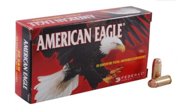 American Eagle 40 S&W 165gr FMJ Ammo AE40R3 - 50rd Box