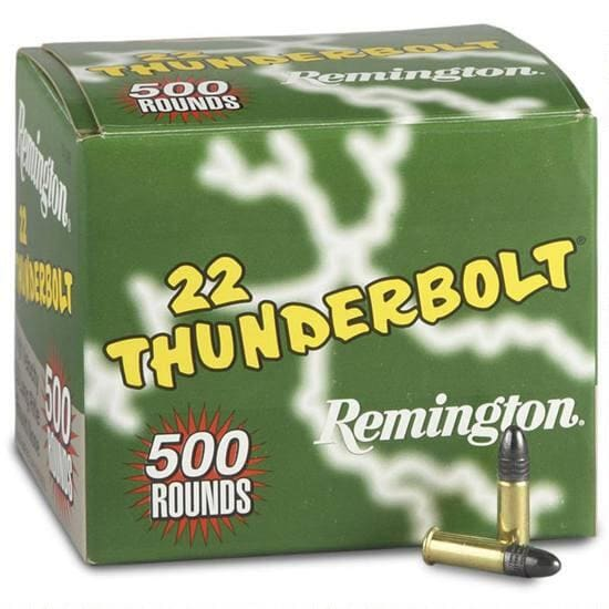 Remington Thunderbolt .22 LR 40 GR LRN Lead Round Nose Ammo - 500rd Box