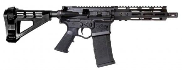 "ATI Omni Hybrid MAXX AR15 Pistol, 5.56 7.5"" BBL, 7"" MLOK, Plum Crazy LPK w/ SBM4 Brace - ATIGOMX556ML7P4PB"