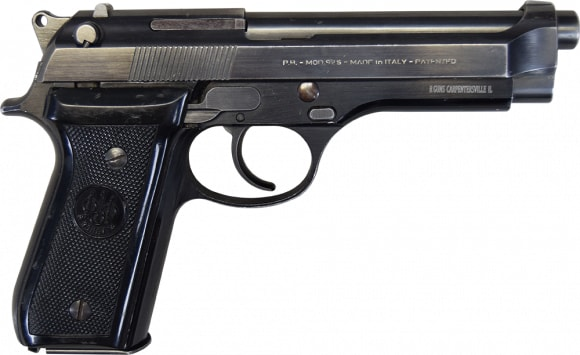 Beretta 92S 9mm Semi-Auto Pistol with 1 Mag, Used Police Turn-ins, NRA Surplus Good / Very Good Condition