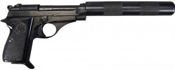 Beretta M-71 Pistol .22LR w/Faux Suppressor Good to Excellent Condition