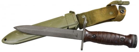 BM-59 Bayonet w/ Scabbard - Brown Handle