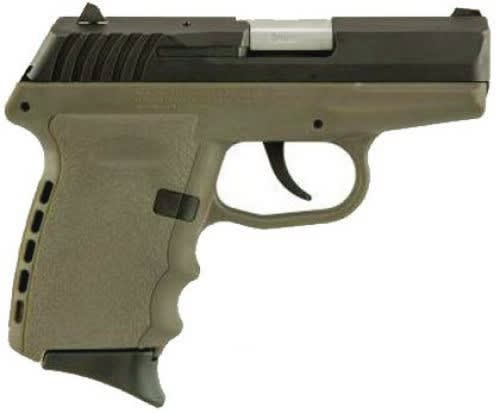 SCCY CPX-2 CBDE 9mm Polymer Frame Pistol, Black on Dark Earth, DAO 10+1 w/ 2 Mags
