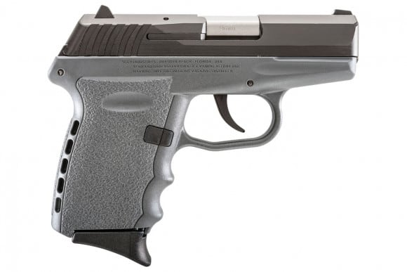 SCCY CPX-2 CBSG 9mm Polymer Frame Pistol, Black on Sniper Gray, DAO 10+1 w/ 2 Mags