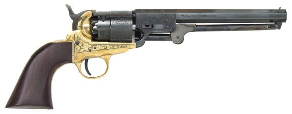 1851 Navy Engraved .44 Cal Black Powder Revolver - Blued, by Traditions - FR185118, Black Powder - No FFL Required.