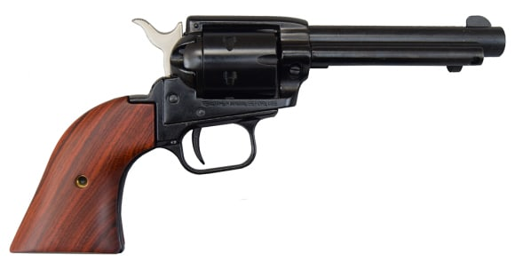 "Heritage Rough Rider Revolver - .22 LR Caliber, 4.75"" Blued with Wood Grips"