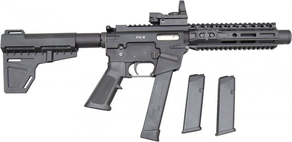 "Freedom Ordnance FX-9 8"" AR 15 Pistol w/ 33rd Mag, Shockwave Blade Pistol Brace - With Shooters Package"