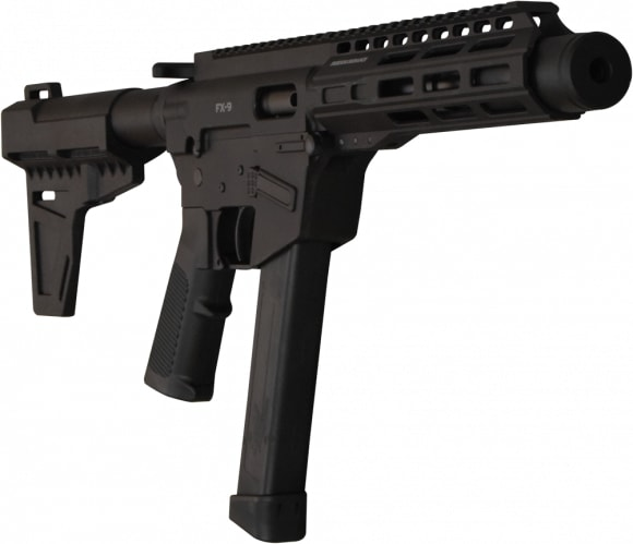 """Freedom Ordnance FX-9 8"""" AR 15 Pistol w/ 33rd Mag, Shockwave Blade Pistol Brace - With Shooters Package"""