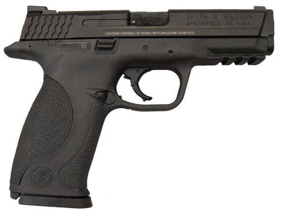 "Smith & Wesson M&P 9 Pistol 209301, 9mm, 4 1/2"", Plastic Grip, Black Finish, 17 Rd - Factory New W / 2-17 Round Mags"