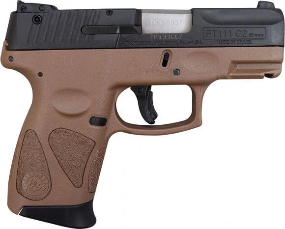 Taurus PT111 Millennium Pro G2 9mm Pistol BLK/BROWN 12+1
