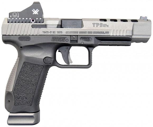 Canik TP9SFx Warren Tactical Sights, Tungsten Grey Vortex Viper Red Dot, 9mm, (2) 20 rnd Mags- 2017 Handgun of the Year - HG3774GVN