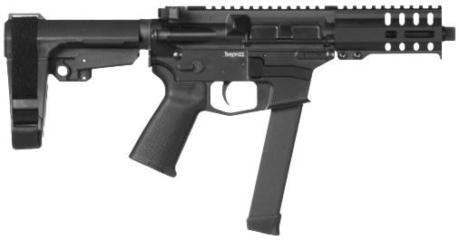 CMMG Banshee 300 MKGS 9mm Pistol w/33rd Glock Mag - Graphite Black