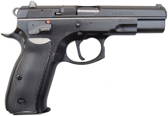 CZ 75 B Full Size 9mm SAO Pistol, (2) 16 Rd Mags, - 91150