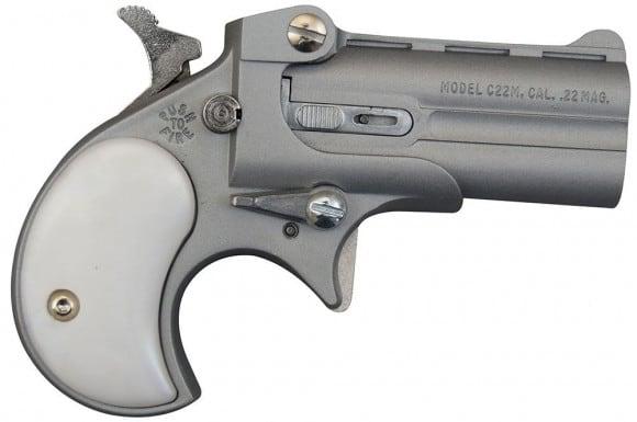 Cobra Derringer .22 WMR ( .22 Mag ), Over / Under Satin/Pearl Grips C22MSP
