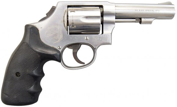 "Smith & Wesson Model 64 LEO Trade-Ins 38 Special 4"" Stainless DAO Used Good Condition"