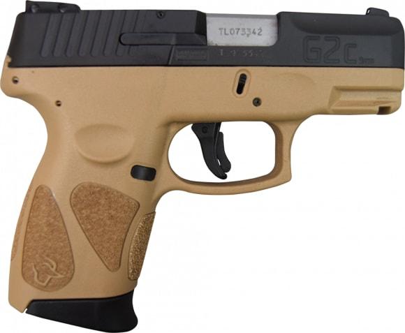 Taurus G2C 9mm Pistol 12+1 Black/FDE - 1G2C93112T