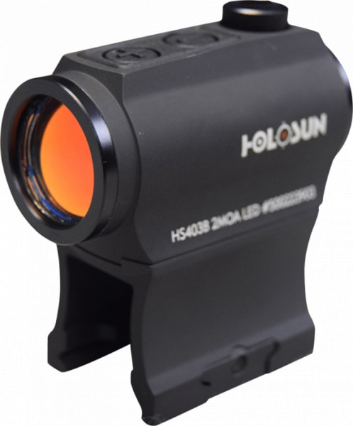 Holosun Technologies Micro 2 MOA Red Dot Sight With Shake Awake Technology - Model HS403B - Comes with Battery