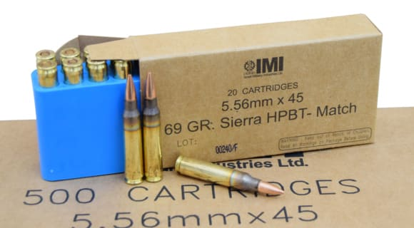 IMI 5.56x45 69gr Sierra HPBT OTM Match King Razor Core Ammo IMI69OTMC - 20rd Box