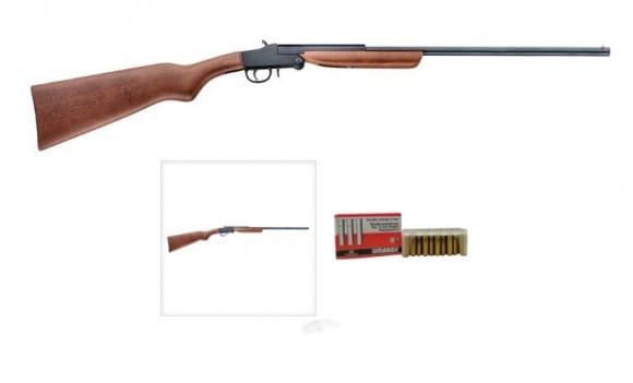 """Italian Chiappa Model 92 RC Little Badger Deluxe Shotgun 9mm Flobert , 24"""" BBl, W / 1000 Rounds Ammunition"""