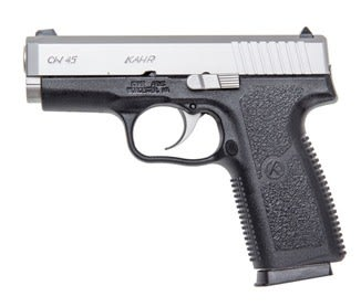 """Kahr Arms CW45 45 ACP Pistol, 3.6"""" Black Poly Matte Stainless Slide - CW4543"""