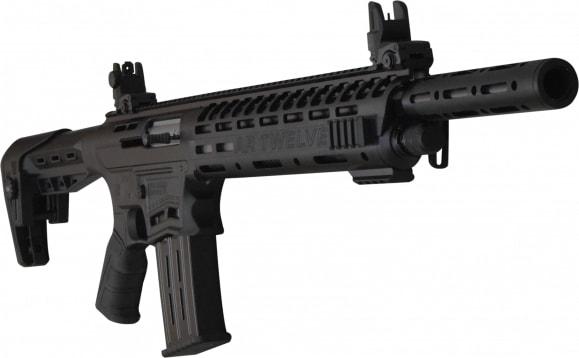 "AR-12 Semi Auto, AR-15 Style 12GA Shotgun by Panzer Arms of Turkey, 3"" Chambers"
