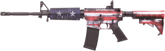 "Colt AR-15 M4 16.1"" Barrel 223/5.56 USA Flag- Red, White, & Blue - LE6920USA"