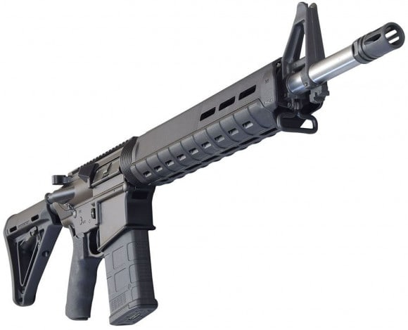 "Del-Ton Alpha .308 AR-10 Rifle 18"" Stainless w/ Magpul Furniture -R3FTHGS18-MLOK"