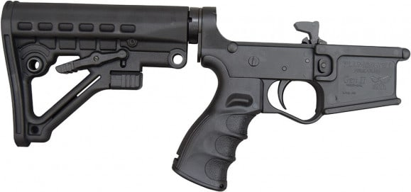 Plum Crazy AR-15 Improved Gen II Complete Lower Receiver - Black
