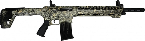 "AR-12 Semi Auto, AR-15 Style 12GA Shotgun by Panzer Arms of Turkey, 3"" Chambers - Special Woodland Camo Cerakote Finish"