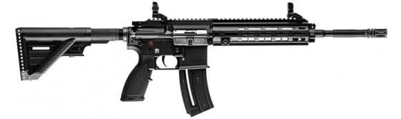 """Heckler and Koch 81000401 HK416 Rifle .22LR 16.1"""" Barrel 20rd M-LOK Black BY Umarex"""