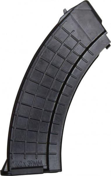 AK-47 Polish 30 Round Waffle Pattern Magazine, 7.62x39, Black Polymer