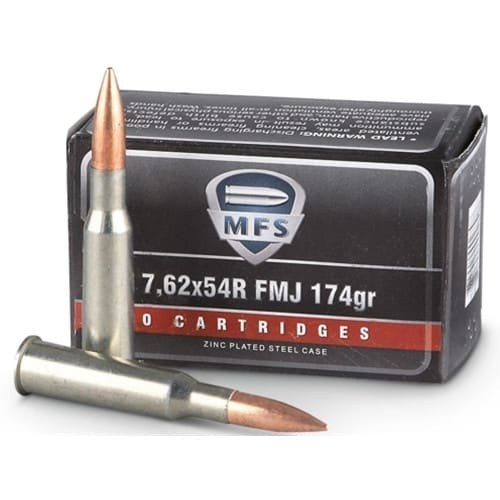 Ruag Ammotec MFS 7.62x54R Ammo 174 Grain Full Metal Jacket - 20 Round Box