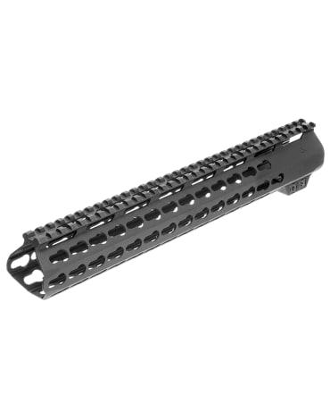 """15"""" Super Slim Light AR-15 Keymod Free Float Handguard w/Steel Barrel Nut & Top Rail"""