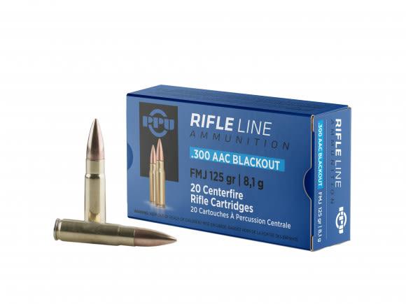 PPU PP300BF Standard Rifle 300 AAC Blackout/Whisper (7.62x35mm) 125 GR FMJ - 20rd Box