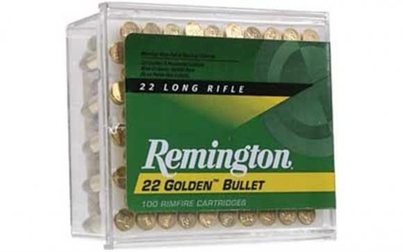 Remington Golden Bullet 22LR 40gr High Velocity Round Nose Ammo - 100rd Box