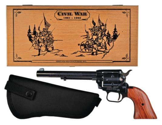 "Heritage Arms Rough Rider Small Bore 22LR/22MAG Revolver, 6.5"" Presentation Box & Holster - RR22MB6BXHOL"