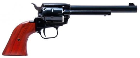 "Heritage Arms Rough Rider Revolver - .22 LR Caliber, 6.5"" Blued with Wood Grips RR22B6"