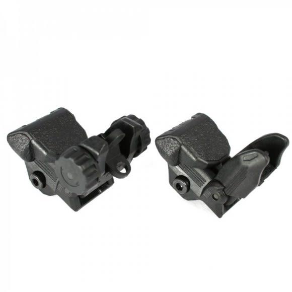 AR-15 Sight Set - Polymer Flip-up Front and Rear Sight - Black